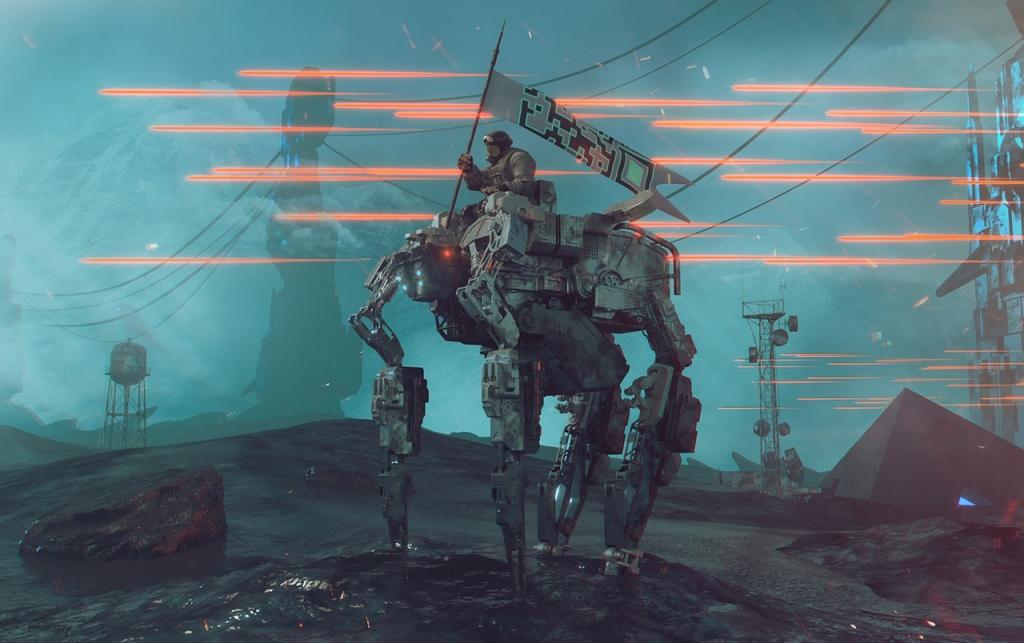 Robot Scifi War